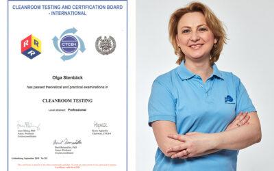 Olga Stenbäck certifierad CTCB-tekniker